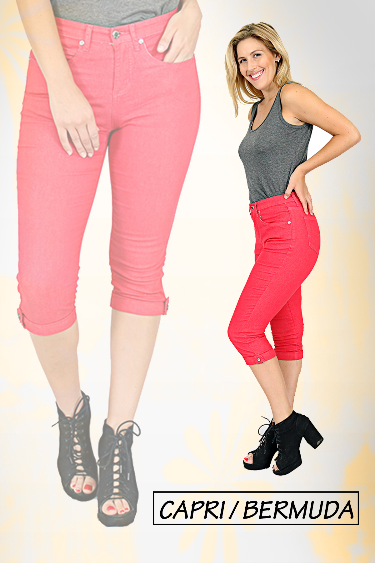 TrueSlim Women's Capri available in many styles and colors